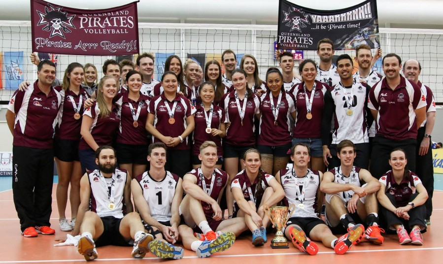 QUEENSLAND PIRATES VOLLEYBALL 2014 MENS AND WOMENS SQUAD