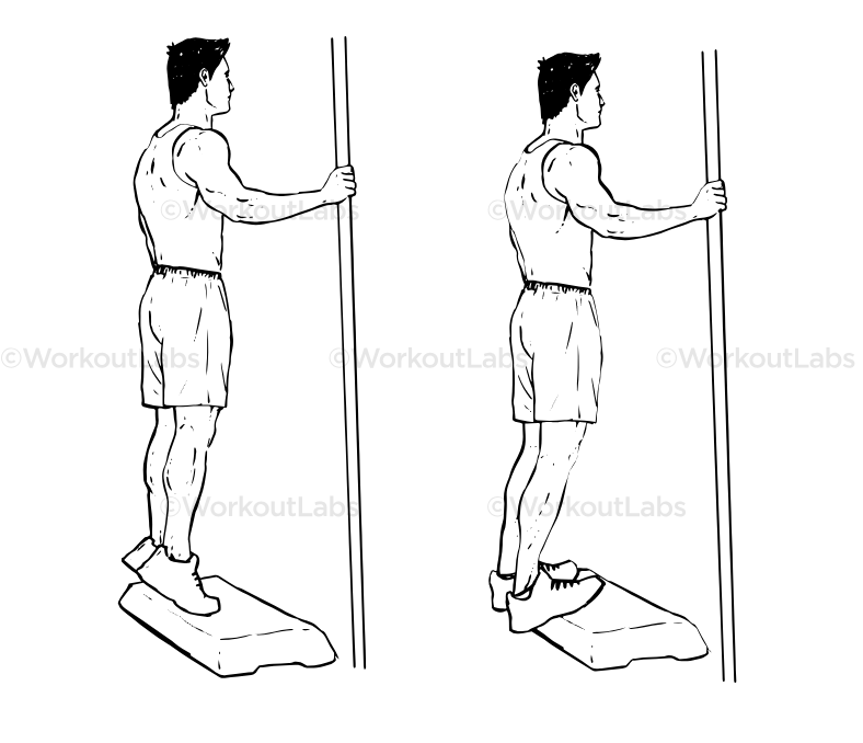 Exercises for achilles tendon issues prevention - calf raises